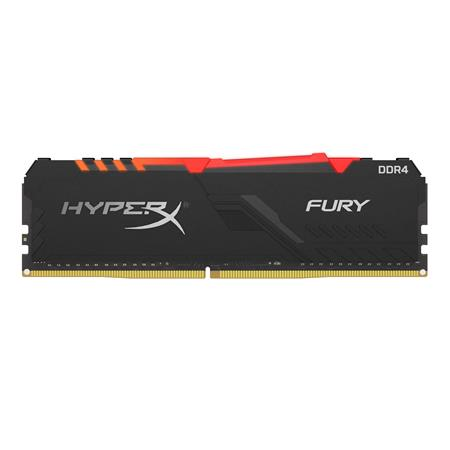 MEM DDR4 HYPERX FURY RGB BLACK 8GB 2666MHZ