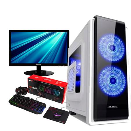 PC Intel G5400 Gold Asus 8GB SSD 240GB Radeon RX 550 4GB + Monitor 22 FHD + Kit Gamer