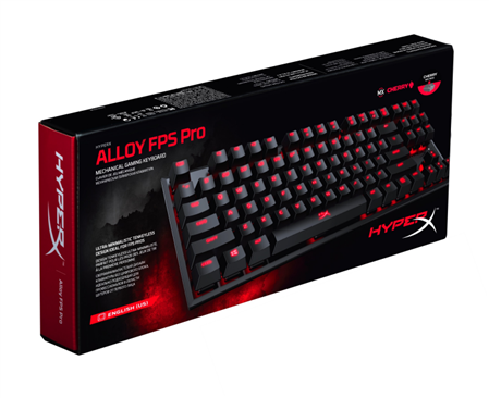 TECLADO HYPERX ALLOY FPS - Mecánico Gaming Cherry Red