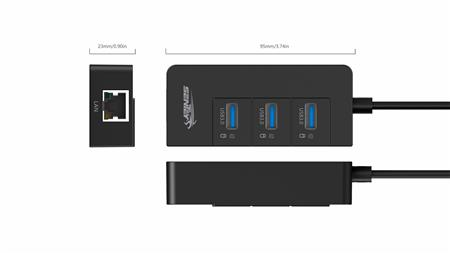HUB 3 USB 3.0 PORTS + LAN SENTEY LS-6111