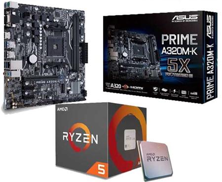 AMD RYZEN 5 3400G + A320M-K + 8GB DDR4 2400MHZ (2 X 4)